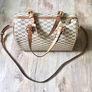 NWT Michael Kors Large Satchel Handbag Monogram